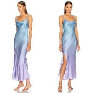 Olivia Rubin Lia Slip Dress in Lilac Blue Ombre